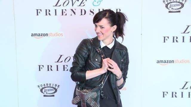 "lena hall at ""love & friendship"" new york screening at landmark sunshine cinema on may 10, 2016 in new york city. - ランドマークサンシャインシアター点の映像素材/bロール"