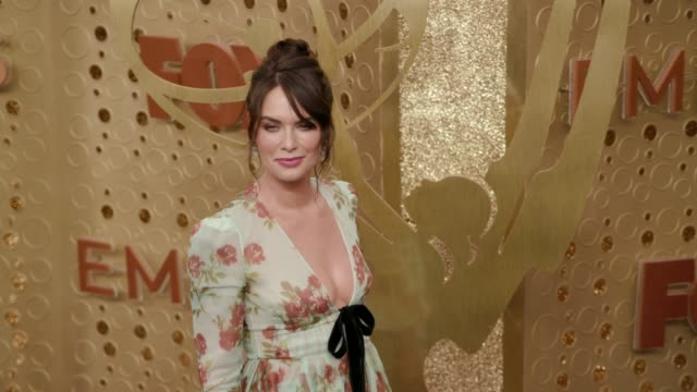 lena headey at the 71st emmy awards - arrivals at microsoft theater on september 22, 2019 in los angeles, california. - emmy awards stock videos & royalty-free footage