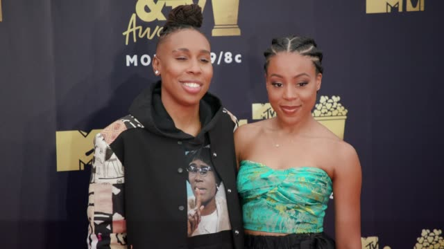 Lena Waithe and Alana Mayo at 2018 MTV Movie TV Awards Arrivals at Barker Hangar on June 16 2018 in Santa Monica California