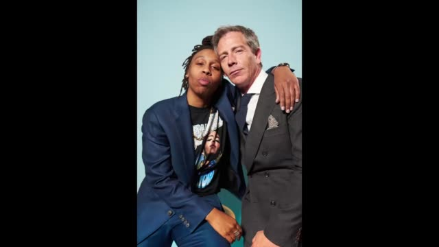 lena waithe and ben mendelsohn janney poses for a gif the 2018 film independent spirit awards on march 3 2018 in santa monica california - film independent spirit awards stock videos & royalty-free footage