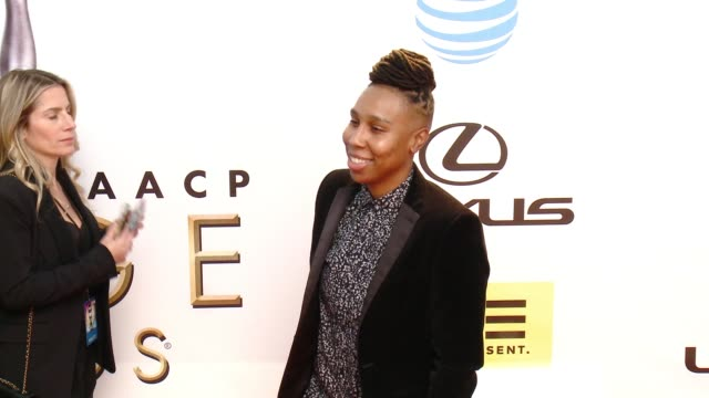 lena waithe at 47th annual naacp image awards at pasadena civic auditorium on february 05 2016 in pasadena california - pasadena civic auditorium stock-videos und b-roll-filmmaterial