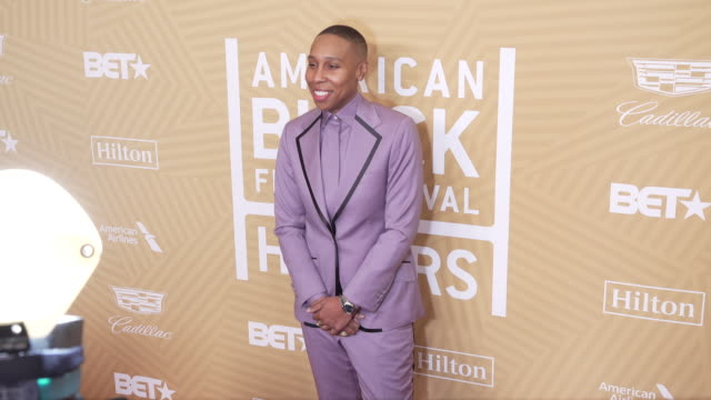 lena waithe at the the american black film festival honors awards ceremony at the beverly hilton hotel on february 23 2020 in beverly hills california - 光栄点の映像素材/bロール