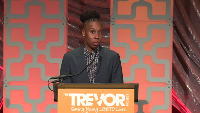 SPEECH Lena Waithe speaks at The Trevor Project TrevorLIVE NY 2018 at Cipriani Wall Street on June 11 2018 in New York City