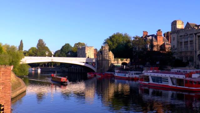 lendal bridge - york, england - river ouse stock videos & royalty-free footage