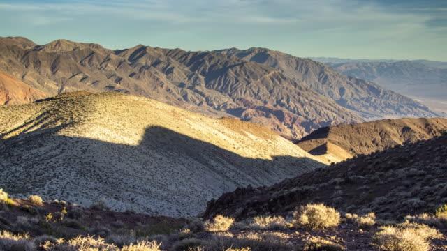 Lengthening Shadows in Desert Hills - Time Lapse