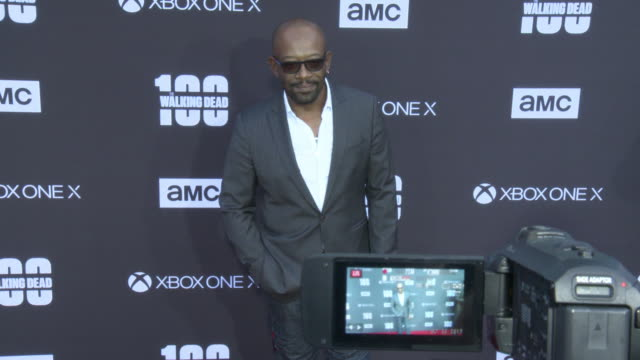 Lennie James at the AMC's The Walking Dead 100th Episode Season 8 Special Premiere Screening at The Greek Theatre on October 22 2017 in Los Angeles...