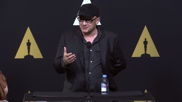 speech lenny abrahamson at 88th annual oscars® nominees luncheon at the beverly hilton hotel on february 08 2016 in beverly hills california at the... - lenny abrahamson stock videos and b-roll footage