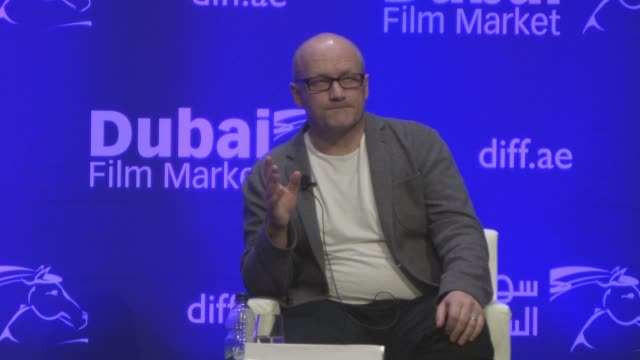 interview lenny abrahamson on making a big budget film the social media metaphor in the film frank and his advice to actors at 2016 dubai... - lenny abrahamson stock videos and b-roll footage