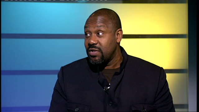 lenny henry studio interview sot - lenny henry stock videos & royalty-free footage