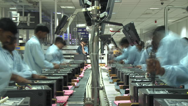 lenovo production line time lapse - fabrik stock-videos und b-roll-filmmaterial