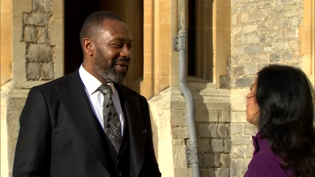 lenry henry interview; england: windsor: windsor castle: ext lenny henry interview sot - re knighthood close-up knighthood medal - lenny henry stock videos & royalty-free footage