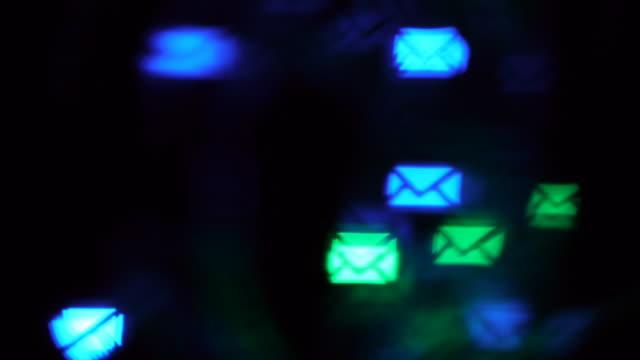 lens flare background many envelopes - envelope stock videos & royalty-free footage