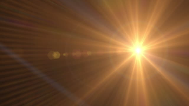 Lens Flare gold light Rotating Abstract Background