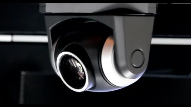 cctv lenti vicino ad alta velocità - telecamera di sorveglianza video stock e b–roll
