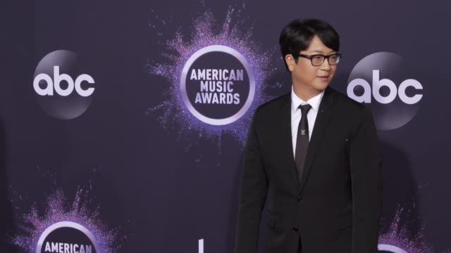 lenzo yoon coceo of big hit entertainment at the 2019 american music awards at microsoft theater on november 24 2019 in los angeles california - american music awards stock videos & royalty-free footage