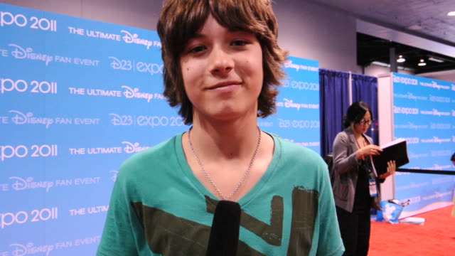 Leo Howard on being at D23 a top secret of the show and where is going after the expo at the D23 Expo 2011 Interviews at Anaheim CA