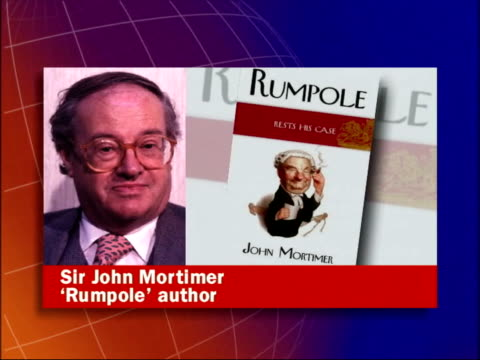 death announced itn sir john mortimer phono sot pays tribute to leo mckern - leo mckern stock videos and b-roll footage