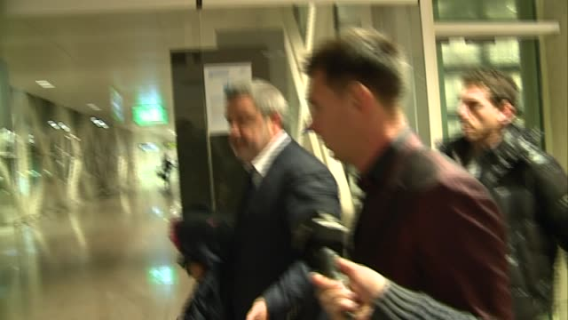 leo messi and antonella rocuzzo arrive to barcelona - lionel messi stock videos and b-roll footage