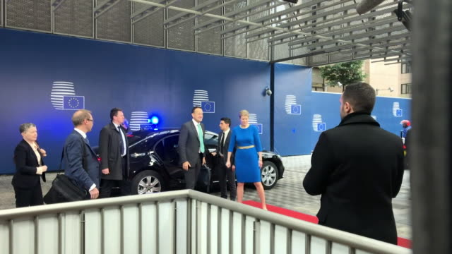 Leo Varadkar Irish Prime Minister arrives at the European Commission in Brussels