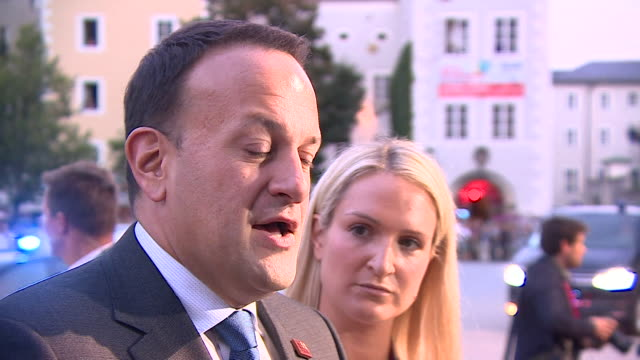 leo varadkar saying the eu is not any close to a withdrawal agreement with the uk - leo varadkar stock videos and b-roll footage