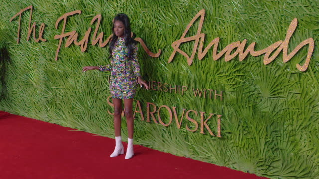 Leomie Anderson at The Fashion Awards 2017 at Royal Albert Hall on December 04 2017 in London England