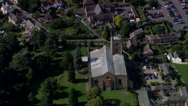 leominster  - aerial view - england, herefordshire, united kingdom - leominster stock videos and b-roll footage