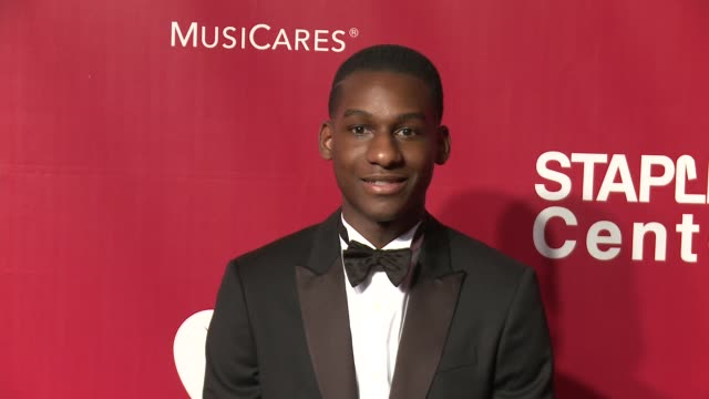 Leon Bridges at the 2016 MusiCares Person of The Year Honoring Lionel Richie at Los Angeles Convention Center on February 13 2016 in Los Angeles...