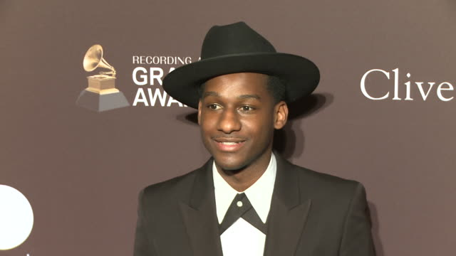 leon bridges at the clive davis' and the recording academy's pre-grammy gala at the beverly hilton hotel on february 09, 2019 in beverly hills,... - clive davis stock videos & royalty-free footage
