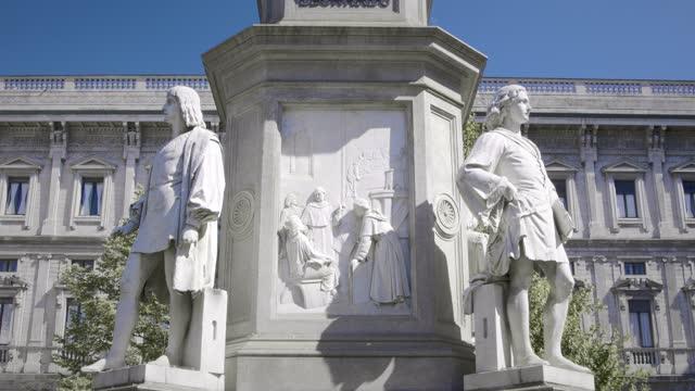 leonard da vinci - sculpture stock videos & royalty-free footage