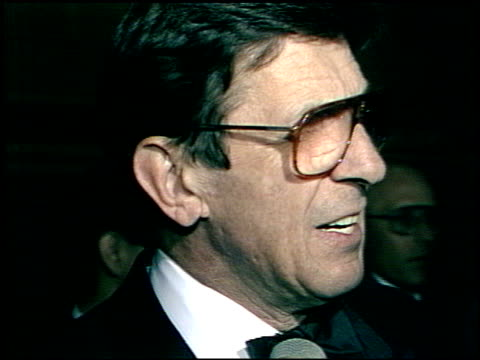 leonard nimoy at the afi awards honoring gregory peck at the beverly hilton in beverly hills california on march 9 1989 - gregory peck stock videos and b-roll footage