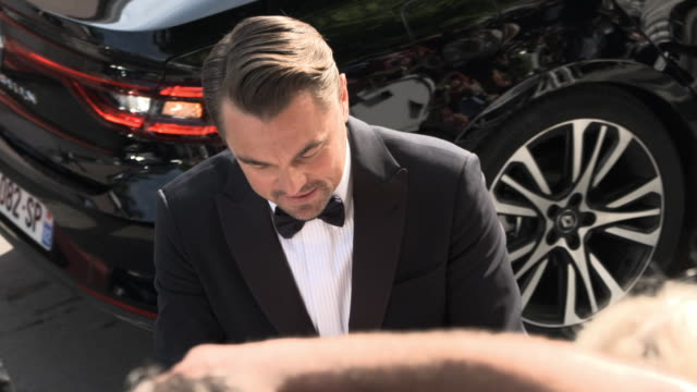 leonardo di caprio at 'once upon a time in hollywood ' red carpet arrivals the 72nd cannes film festival at grand theatre lumiere on may 21, 2019 in... - leonardo dicaprio stock videos & royalty-free footage