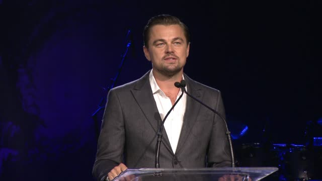 leonardo dicaprio accepts honor and talks about why it is so meaningful to him, on sean penn's work, on his hope that we can do something to protect... - do something organization stock videos & royalty-free footage