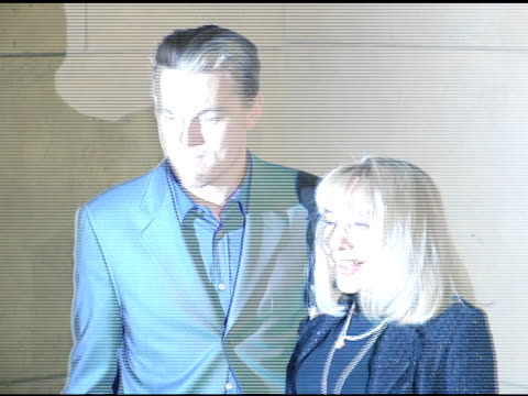 vídeos de stock, filmes e b-roll de leonardo dicaprio and howard hughes' widow terry moore at the prescreening of 'the aviator' presented by friends of npi at the egyptian theatre in... - widow