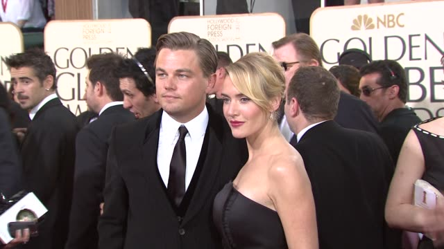 Leonardo DiCaprio and Kate Winslet at the 66th Annual Golden Globe Awards Arrivals Part 5 at Los Angeles CA