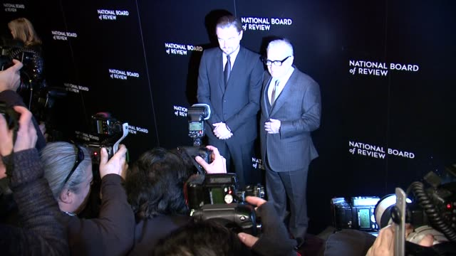 leonardo dicaprio and martin scorsese at national board of review awards gala at cipriani 42nd street on in new york, usa - martin scorsese stock videos & royalty-free footage