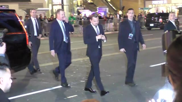 Leonardo DiCaprio arriving to The Revenant Premiere at TCL Theatre in Hollywood Celebrity Sightings on December 16 2015 in Los Angeles California