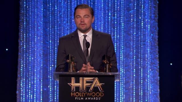 leonardo dicaprio at 20th annual hollywood film awards in los angeles, ca 11/6/16 - leonardo dicaprio stock videos & royalty-free footage