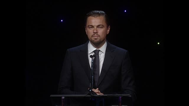 SPEECH Leonardo DiCaprio at 64th Annual ACE Eddie Awards in Los Angeles CA