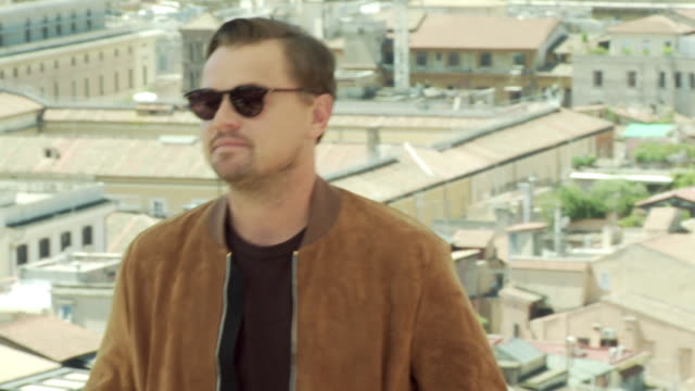 """leonardo dicaprio at """"once upon a time in hollywood"""" photocall in rome at hotel de la ville on august 3, 2019 in rome, italy. - leonardo dicaprio stock videos & royalty-free footage"""