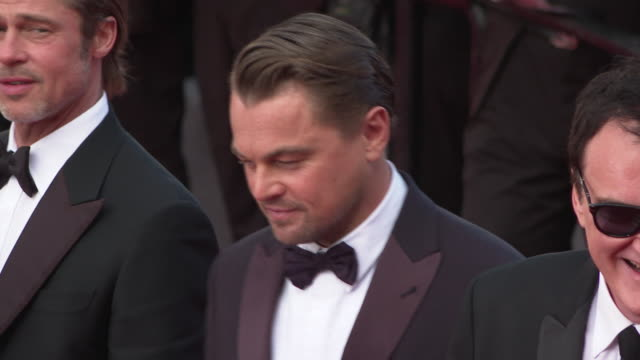 leonardo dicaprio at 'once upon a time in hollywood ' red carpet arrivals the 72nd cannes film festival at grand theatre lumiere on may 21 2019 in... - grand theatre lumiere stock videos & royalty-free footage