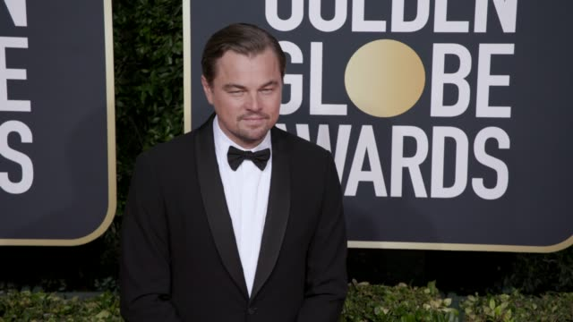 leonardo dicaprio at the 77th annual golden globe awards at the beverly hilton hotel on january 05, 2020 in beverly hills, california. - golden globe awards stock videos & royalty-free footage