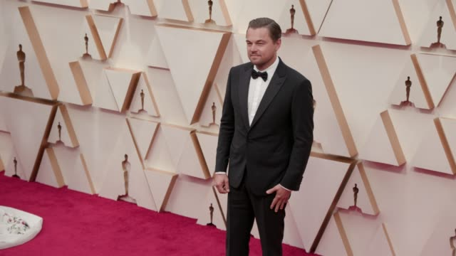leonardo dicaprio at the 92nd annual academy awards at dolby theatre on february 09, 2020 in hollywood, california. - leonardo dicaprio stock videos & royalty-free footage