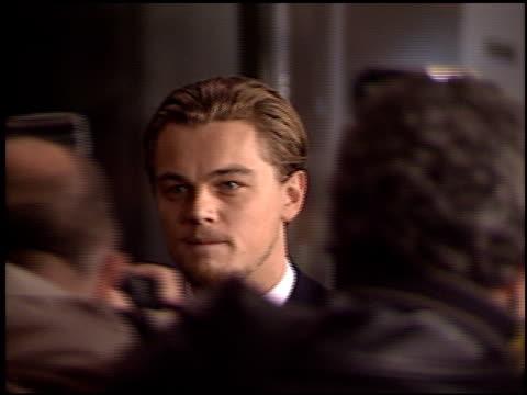 leonardo dicaprio at the 'gangs of new york' premiere at dga in los angeles, california on december 17, 2002. - leonardo dicaprio stock videos & royalty-free footage
