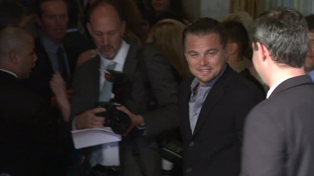 leonardo dicaprio at the national resources defense council's 20th anniversary celebration at beverly hills ca - national resources defense council stock videos & royalty-free footage