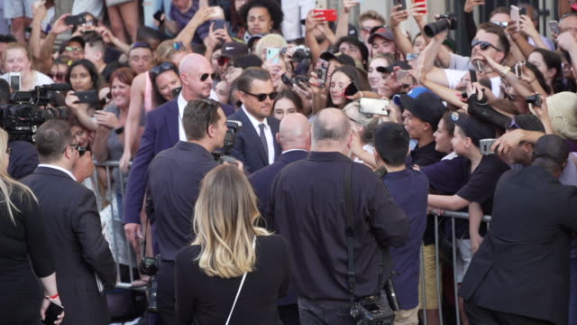 """leonardo dicaprio at the """"once upon a time in hollywood"""" premiere at tcl chinese theatre on july 22, 2019 in hollywood, california. - leonardo dicaprio stock videos & royalty-free footage"""