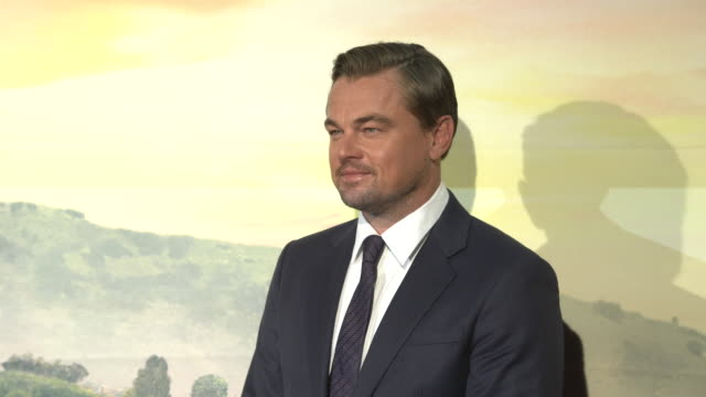 """leonardo dicaprio at the """"once upon a time in hollywood"""" premiere in rome - leonardo dicaprio stock videos & royalty-free footage"""