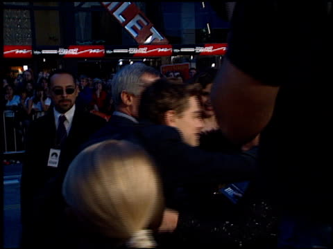 leonardo dicaprio at the 'titanic' premiere at grauman's chinese theatre in hollywood california on december 14 1997 - premiere stock videos & royalty-free footage