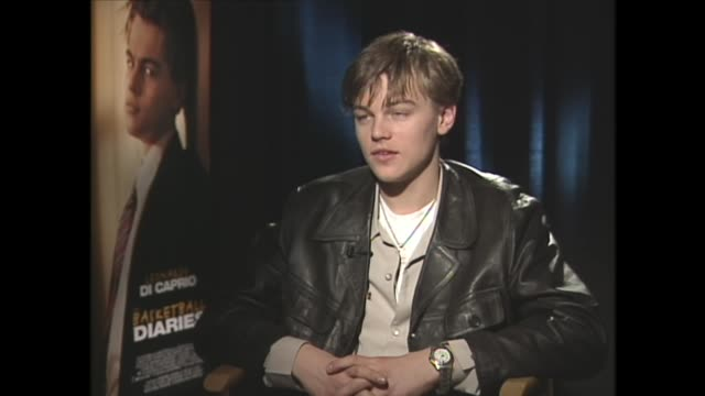 leonardo dicaprio on initially being unsure about working with mark wahlberg - leonardo dicaprio stock videos & royalty-free footage
