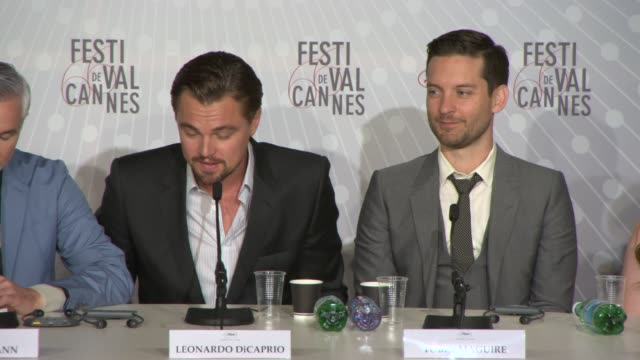 leonardo dicaprio on working with baz luhrmann, what he's like as a director and storyteller at the great gatsby press conference at palais des... - storyteller stock videos & royalty-free footage
