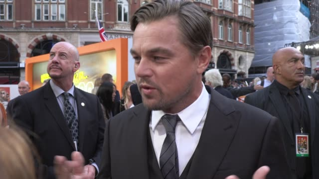 leonardo dicaprio on working with brad pitt and his admiration for quentin tarantino at odeon luxe leicester square on july 30, 2019 in london,... - leonardo dicaprio stock videos & royalty-free footage